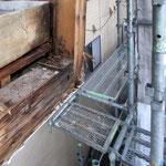 ⑤床防水層の破綻がよく分かります。