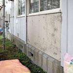 ④腐食外壁解体中。