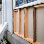 ⑤木枠から再建。