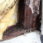 ④始まりはボルト穴の僅かな隙間に浸水したこと。