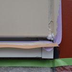 ⑦壁下端の隙間は通気口。壁内の腐食を抑える工夫。