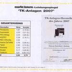 Auerswald Center München | Testsieger 2007 - 2. Platz - Ergebnisse 1/2