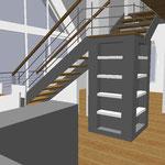 Treppe in Dachspitz