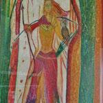 die friedvolle Kriegerin - ein Bild der Künstlerin Erna Siebinger inspiriert uns in unseren Themen