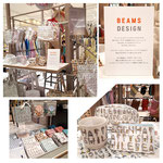 「BEAMS DESIGN」HAPPYハンカチ&雑貨 (2018年・春夏ライン) 全国の百貨店で発売されました。