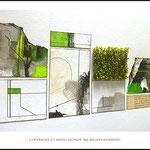 抽象画と植物を組み合わせたアート作品。 ※詳細→http://shihohonda.jimdo.com/gallery-menu/art-plant/