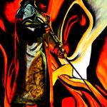 STAHLKOCHER 2, Öl auf Leinwand, 120 x 100 cm