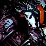 UNTER TAGE, Öl auf Leinwand, 120 x 100 cm