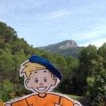 Flat Stanley at monte Sainte Victoire