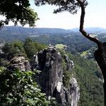 Blick von der Bastei bei Rathen