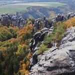 Schrammsteine im Herbst