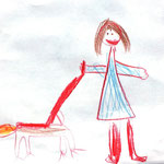 Eva pelje na sprehod Ozija