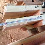 梁を繋ぎ合わせる追掛大栓継の仕口