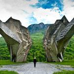 Das Partisanen-Denkmal im Sutjeska: Tito kämpfte gegen die Wehrmacht.
