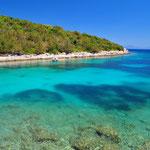 Verlassene Bucht in Kroatien