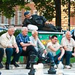 Gelassenheit in der Stadt - beim Schach.