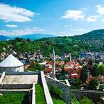 Auf der alten Festung von Travnik