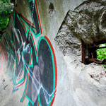Die Reste der alten olympischen Bobbahn von Sarajevo.