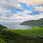 Grenze Montenegro-Albanien: der Skadarsee