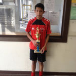 BEST PLAYER FOR THE TOURNAMENT U-14