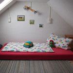 Matratzenlager auf dem Dachboden Ferienwohnungen 3 und 4
