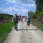 Wandern in der Ruhe der freien Natur