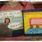 "Elisa , una piccola ""lettrice"" alle prese con i giochi del libro."