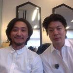 鈴木俊治と、James Iha:ジェームス・イハー! 何か、床屋っぽい(笑)