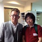マトリックス・エナジェティクスの練習会にて、知井 道通さんと。