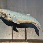 Walvis op ijzer (raku) (2020)