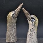 Jan-van-genten (raku) (2020) verkocht tijdens wildlife artist of the year