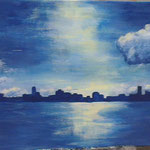 elliottism Acrylmalerei Hamburger Hafen Entstehung