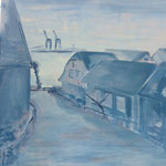 elliottism Acrylmalerei Hamburg Blankenese Entstehung