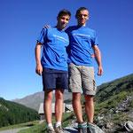 Léo et Cyprien sur la Turge de la Suffie 3024m (Hautes Alpes) été 2013