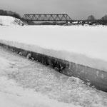 Brączewo, nieczynny most kolejowy nad rz. Wartą