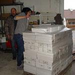 2014 Futter packen für unsere Transporte
