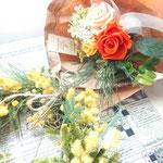 ミモザのリース、花束