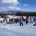 サンメドウズ清里スキー場雪合戦②