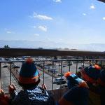 SAの展望台から、富士山が見えました