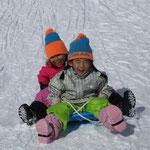 サンメドウズ清里スキー場⑤「いっしょにソリが滑れて楽しかった」