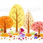 てくてく、秋の森