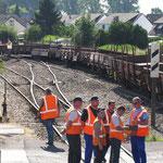 L'équipe du Technicentre SNCF de Picardie, basée à tergnier arrive sur place.