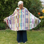Poncho, Material – Baumwolle/ Wolle, Bindung – Drell