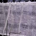 Gardine,   Material – Leinen, Bindung – Leinwandbindung/ Scheindreher