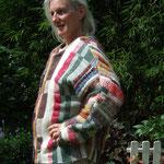 Jacke mit Fledermausärmeln,  Baumwolle/ Wolle, Bindung – Drell