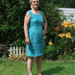 Sommerkleid, Material –  Baumwolle/ Leinen, Bindung – gemusterter Flechtköper