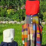 Weberinnenrock Rückseite,   Material – Wolle, Bindung – vorwiegend Köper
