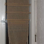 Gardine,  Material – BW/ Leinen/ Schilf