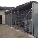 Lager- sowie Mülltonnenumhausung mit Diebstahlschutz