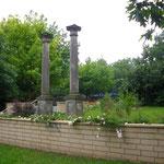 Die Säulen an der Zentrumsachse